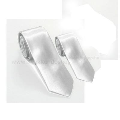 b352d09bbc Szatén apa-fia nyakkendő szett - Fehér