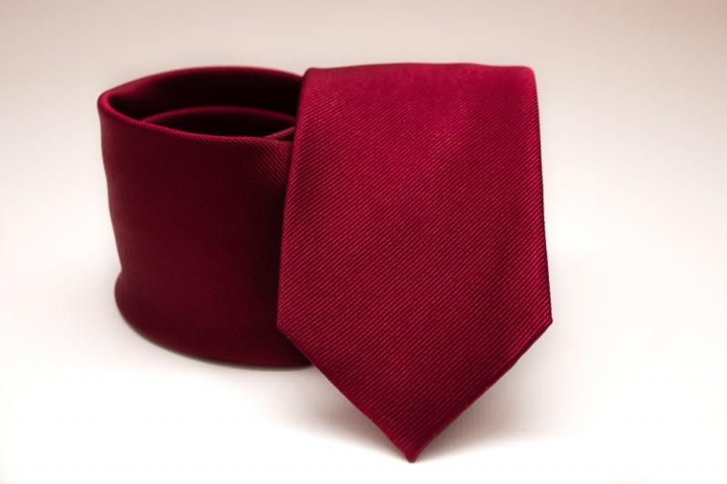 Prémium selyem nyakkendő - Meggybordó Egyszínű nyakkendők