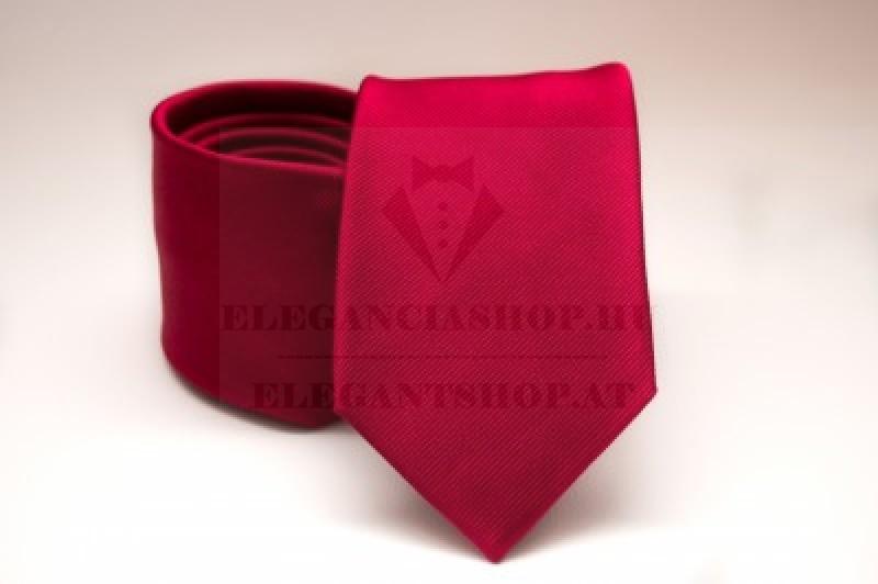 Prémium selyem nyakkendő - Piros Egyszínű nyakkendők