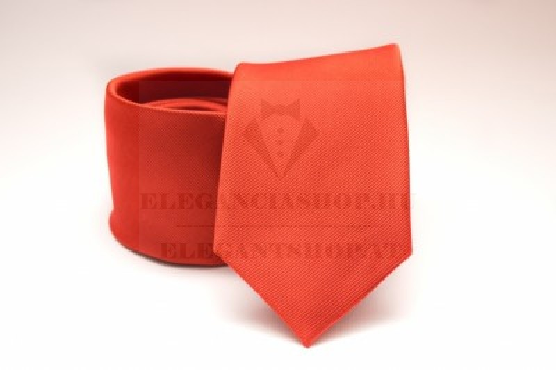 Prémium selyem nyakkendő - Narancssárga Egyszínű nyakkendők