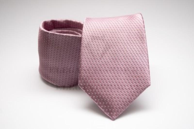 Prémium nyakkendő - Rózsaszín mintás Aprómintás nyakkendők