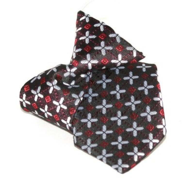 Gumis gyereknyakkendő (mini)  - Bordó mintás