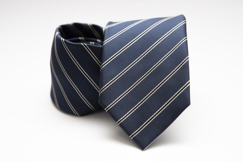 Prémium nyakkendő - Sötétkék csíkos