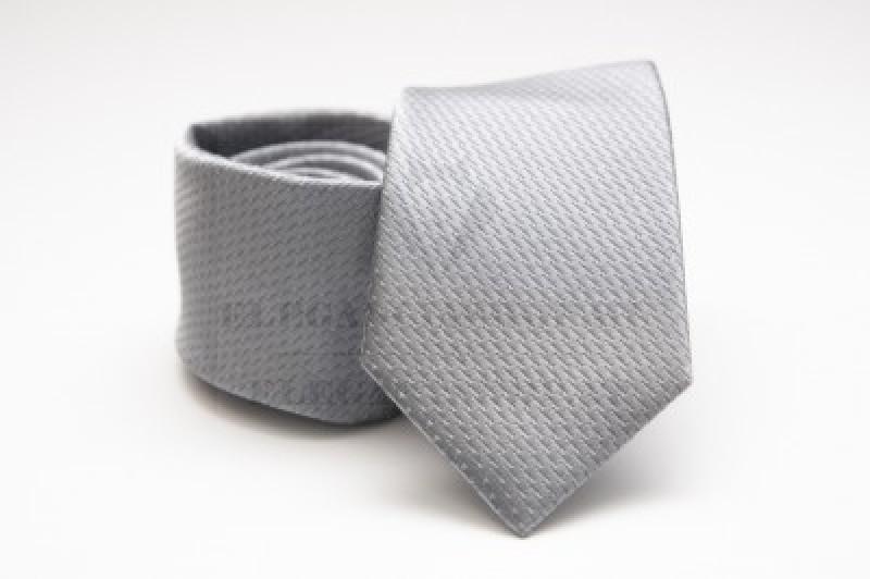 Prémium selyem nyakkendő - Ezüst Egyszínű