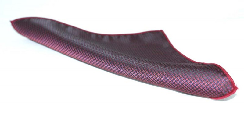 Díszzsebkendő -  Padlizsán mintás