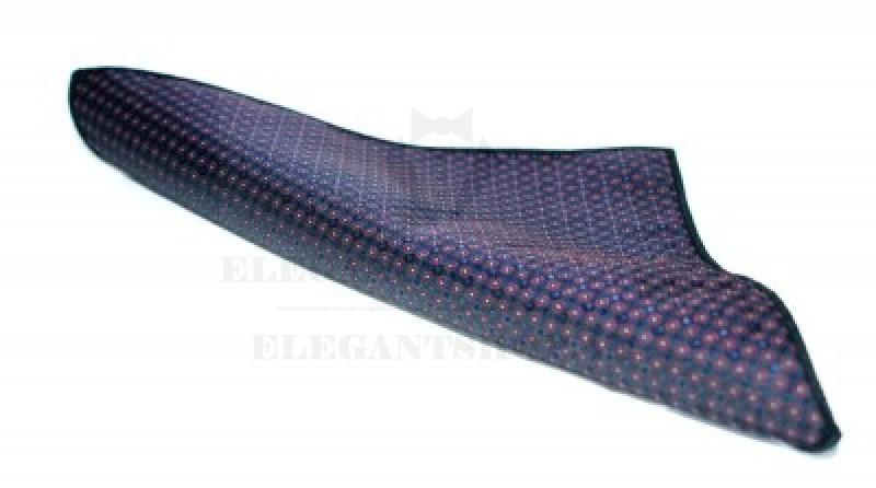 Díszzsebkendő -  Kék mintás