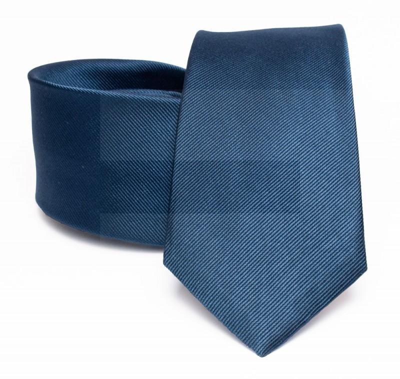 Prémium selyem nyakkendő - Farmerkék