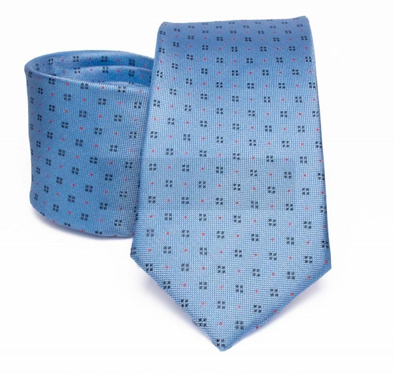 Prémium selyem nyakkendő - Kék aprómintás