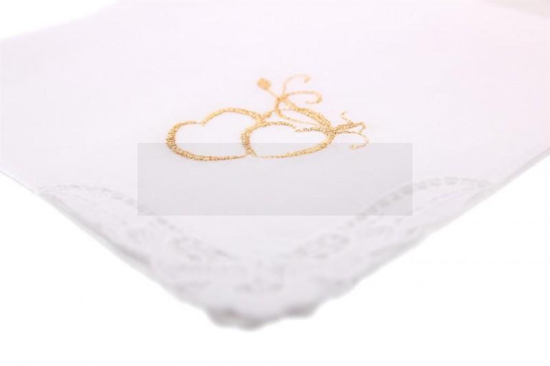 Női esküvői zsebkendő - Szív Női kiegészítők