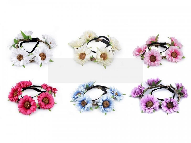 Rugalmas hajpánt virágokkal Ékszer, hajdísz