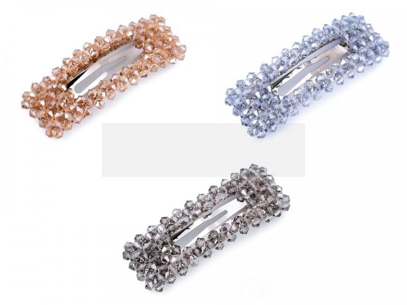 Francia csat csiszolt gyöngyökkel Női kiegészítők