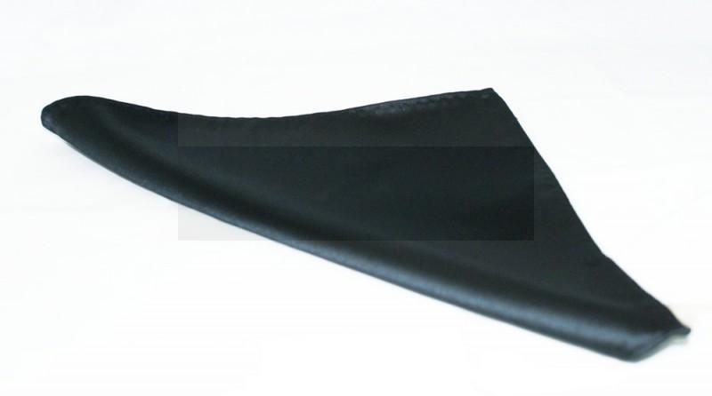 NM szatén díszzsebkendő - Fekete