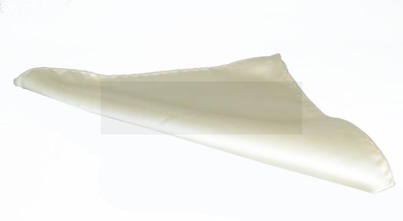 NM szatén díszzsebkendő - Ecru