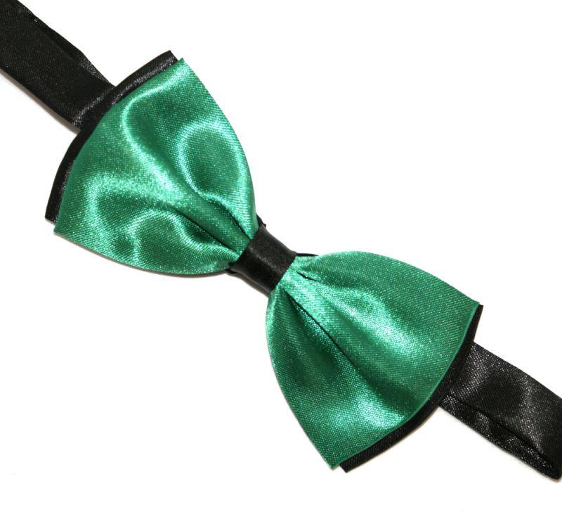 Csokornyakkendő - Zöld-fekete