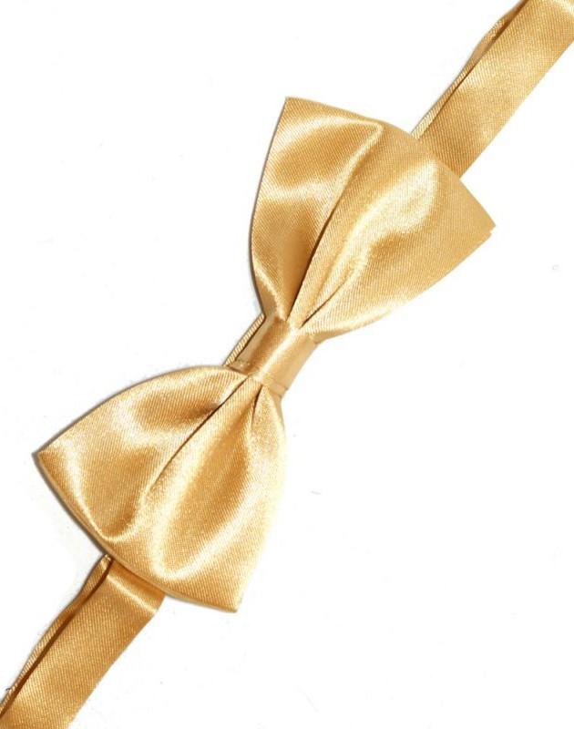 Gyerek szatén csokornyakkendő - Arany