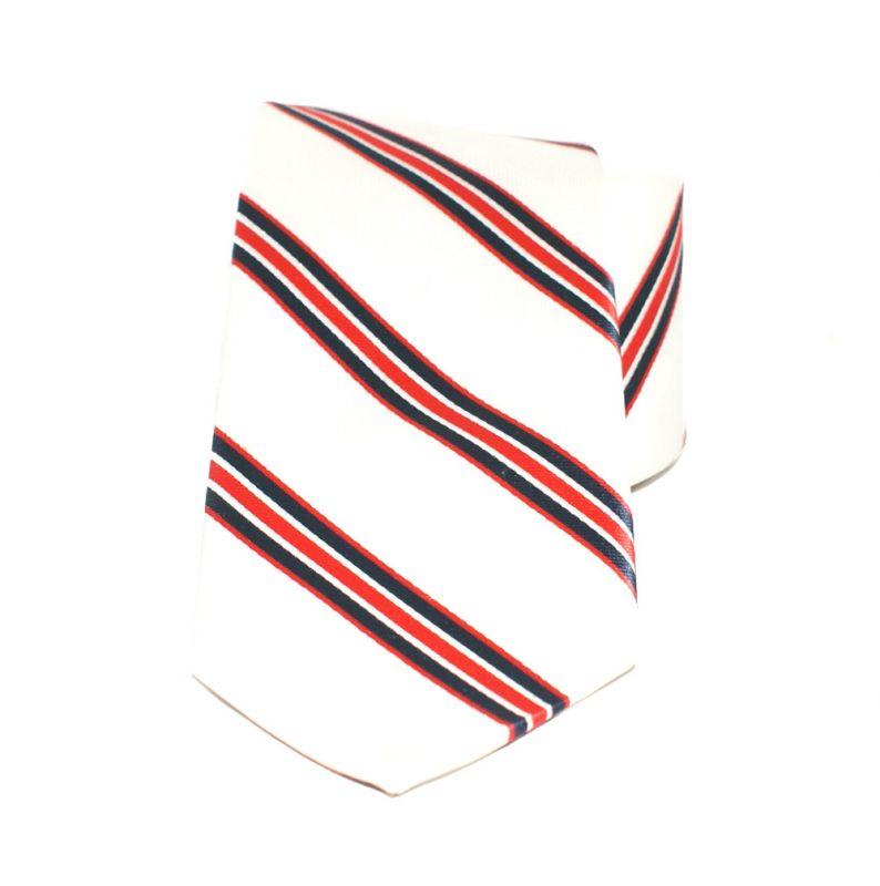Saint Michael selyem nyakkendő - Piros-fehér csíkos