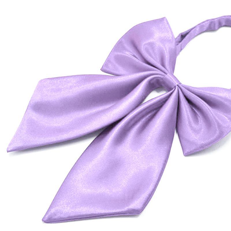 Szatén női csokornyakkendő - Orgonalila