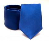 Prémium selyem nyakkendő - Királykék
