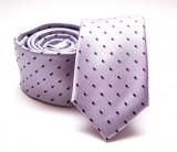 Prémium slim nyakkendő -   Halványlila mintás