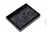 Paisley díszzsebkendő dobozban - Fekete