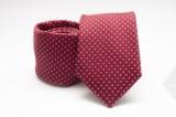 Prémium selyem nyakkendő - Piros pöttyös Selyem nyakkendők