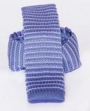 Prémium  kötött nyakkendő - Lila csíkos Kötött nyakkendők
