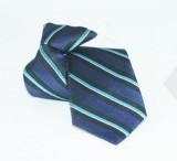 Gumis gyereknyakkendő - (mini) Kék csíkos Gyerek nyakkendők