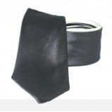Goldenland 2in1 slim nyakkendő - Sötétbarna-Ecru