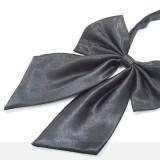 Szatén női csokornyakkendő - Sötétszürke