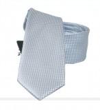 NM slim szatén nyakkendő - Ezüst szövött