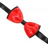Csokornyakkendő - Piros-fekete
