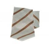Saint Michael selyem nyakkendő - Szürke-barna csíkos