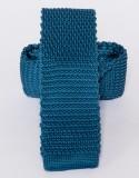 Prémium kötött nyakkendő - Acélkék Egyszínű