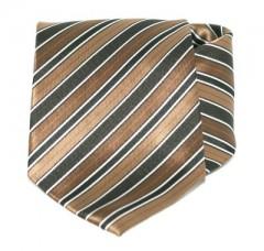 Goldenland nyakkendő - Barna-fekete csíkos