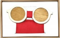 Fa csokornyakkendő szett - Szemüveg