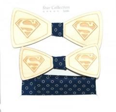 Fa apa-fia csokornyakkendő szett - Superman