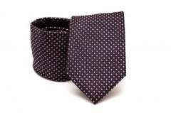Prémium nyakkendő -  Fekete-piros aprópöttyös