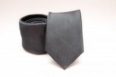 Prémium selyem nyakkendő - Grafitszürke Egyszínű