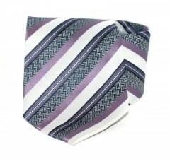 Goldenland nyakkendő - Lila-grafit csíkos