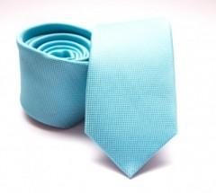 Prémium slim nyakkendő - Türkízkék