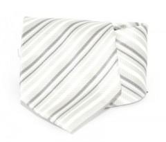 Goldenland nyakkendő - Szürke-fehér csíkos