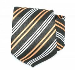 Goldenland nyakkendő - Fekete-narancs csíkos