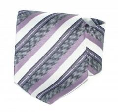 Goldenland nyakkendő - Szürke-lila csíkos