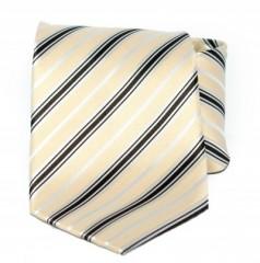 Goldenland nyakkendő - Drapp-fekete csíkos