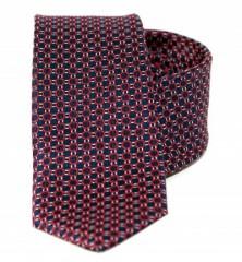Goldenland slim nyakkendő - Bordó mintás