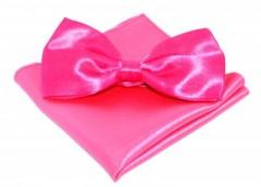 Szatén csokornyakkendő szett - Pink