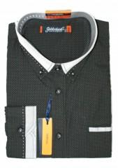 Goldenland hosszúujjú ing - Fekete pöttyös Normál fazon