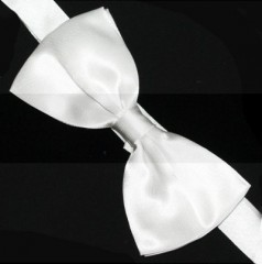 Szatén csokornyakkendő - Fehér