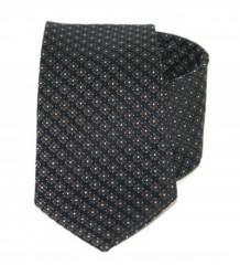 Exkluzív selyem nyakkendő - Fekete mintás