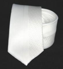 Goldenland slim nyakkendő - Fehér mintás